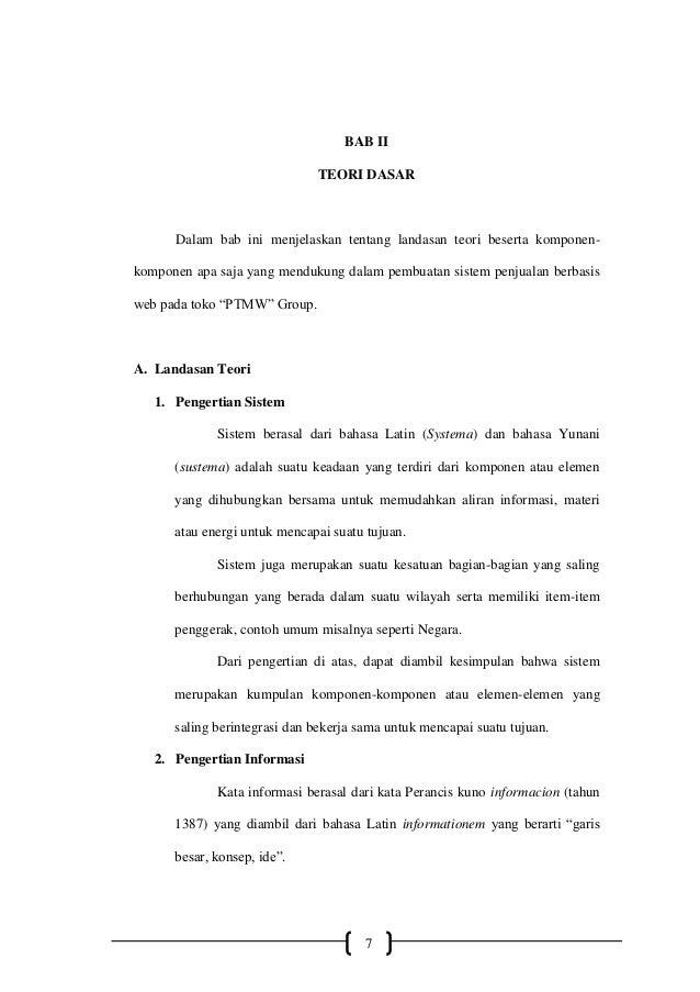 8 Bab Ii Landasan Teori