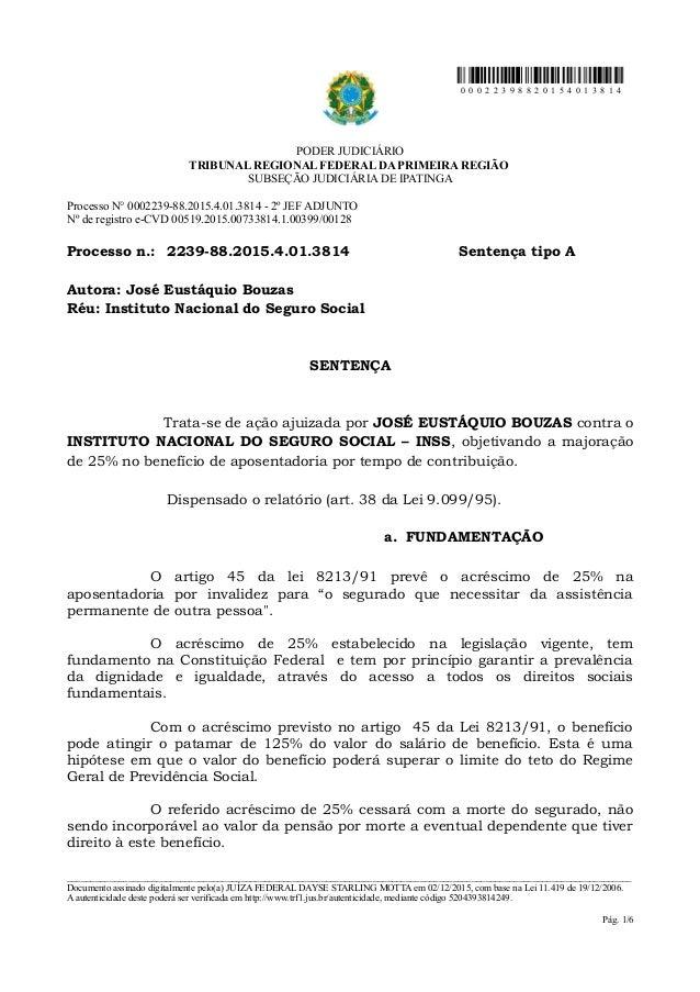 0 0 0 2 2 3 9 8 8 2 0 1 5 4 0 1 3 8 1 4 PODER JUDICIÁRIO TRIBUNAL REGIONAL FEDERAL DA PRIMEIRA REGIÃO SUBSEÇÃO JUDICIÁRIA ...