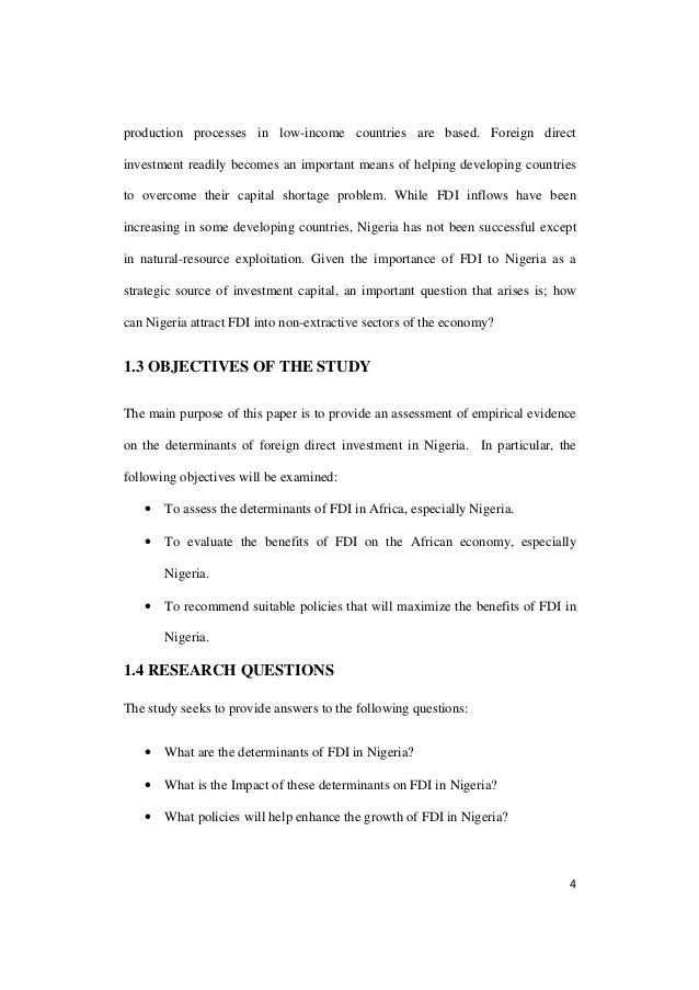 """a paper on the importance of foreign direct investment Short essay on foreign direct investment (fdi) article shared by the term fdi is an abbreviation for """"foreign direct investment"""" and refers to the direct investment that any foreign company makes in another country, by the act of buying that company or by expanding some existing business in the country."""