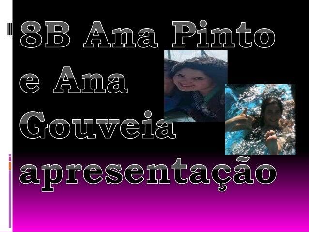 Ana Pinto  Olá, o meu nome é Ana Filipa Pinto, tenho 14 anos e venho de Barrô.  Nos meus tempos livres, gosto de estar n...