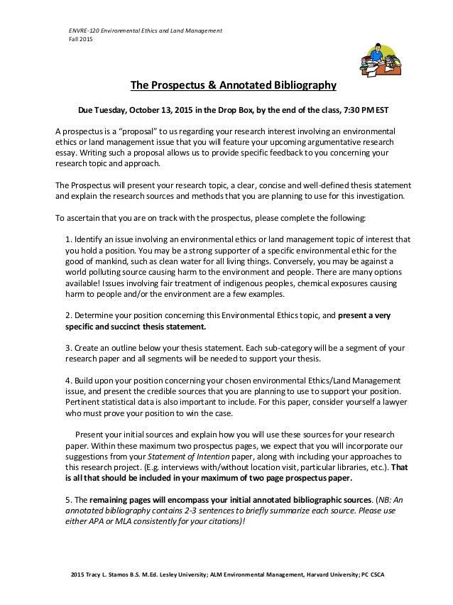 prospectus research paper