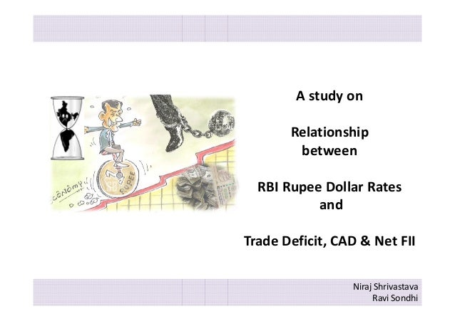 A study on Relationship between RBI Rupee Dollar Rates and Trade Deficit, CAD & Net FII Niraj Shrivastava Ravi Sondhi