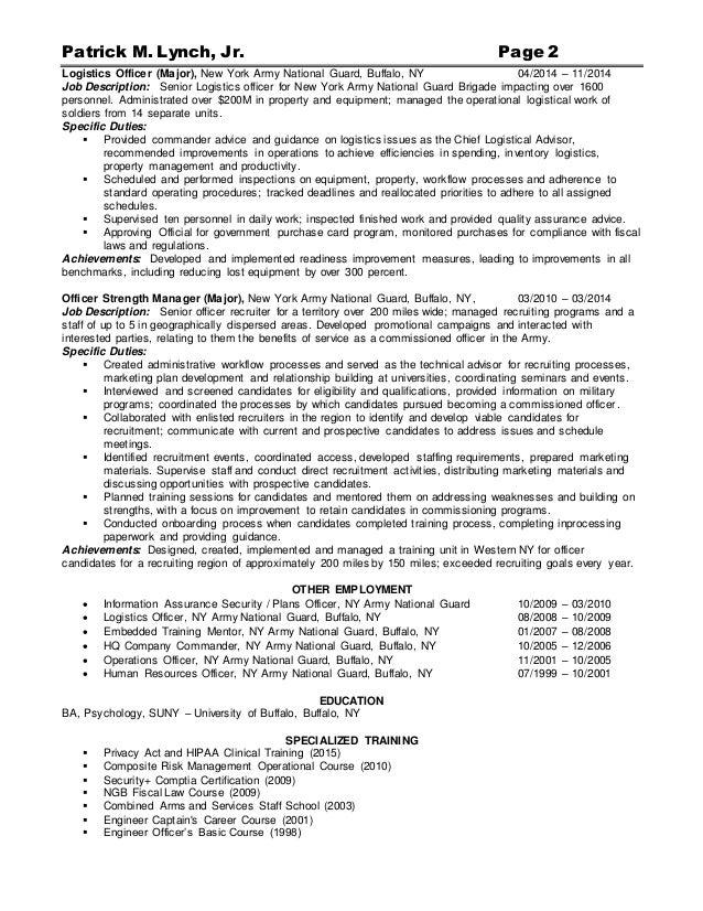 army resume format army resume exle sle
