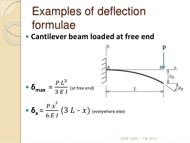beam deflection Euler–bernoulli beam theory (also known as engineer's beam theory or classical beam theory) is a simplification of the linear theory of elasticity which provides a means of calculating the.