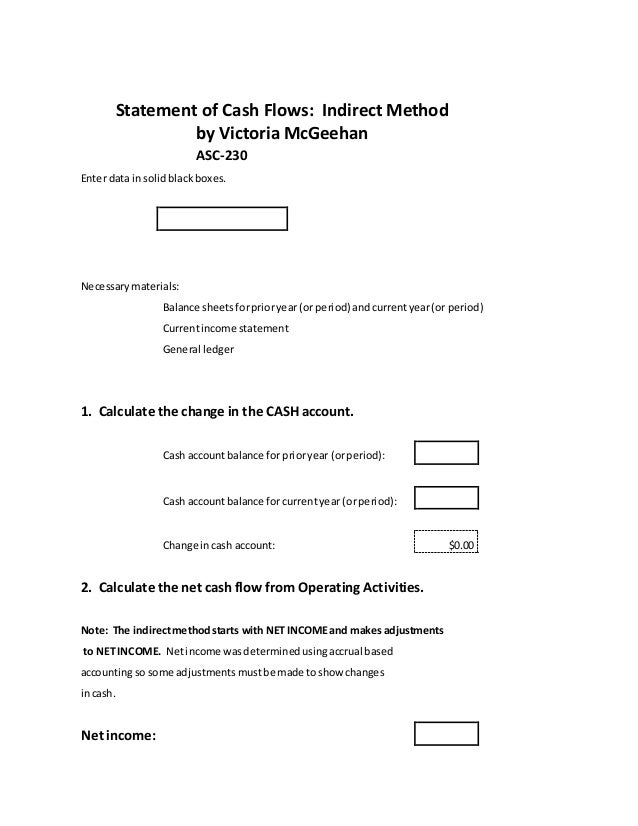 Statement of Cash Flows, ASC 230