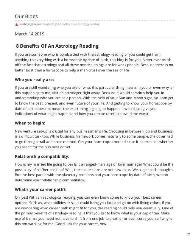 8 benefits of astrology reading