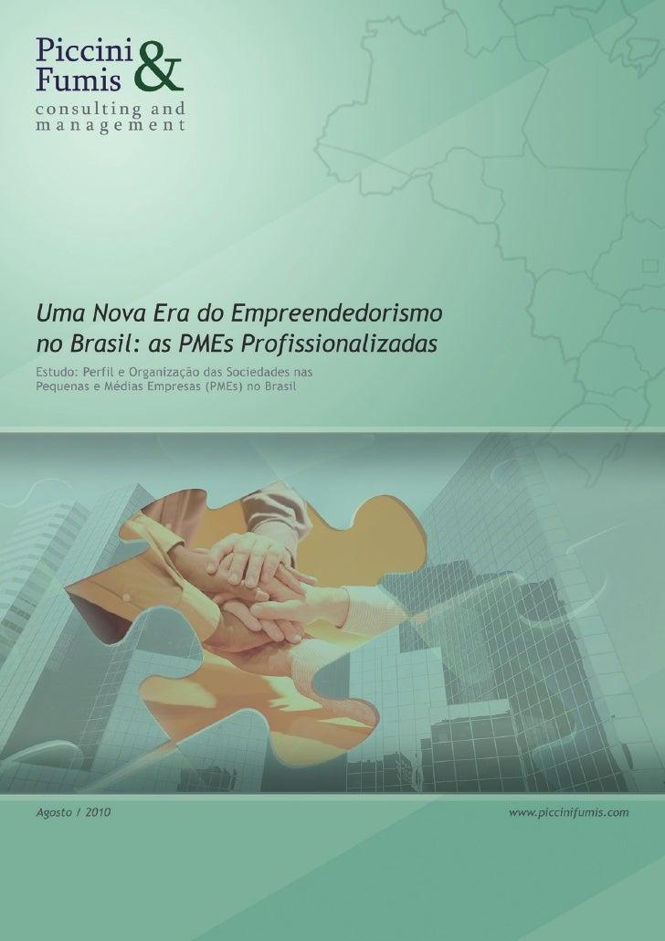 Perfil e organização das sociedades nas pequenas e médias empresas                                              Sumário   ...