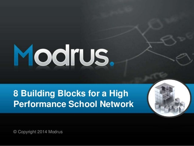 8 Building Blocks for a High Performance School Network © Copyright 2014 Modrus