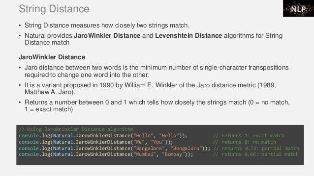 NLP using JavaScript Natural Library