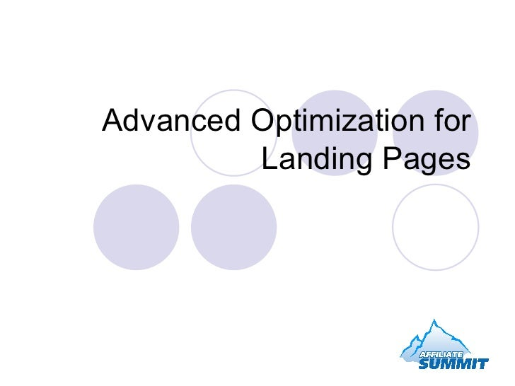 Advanced Optimization for Landing Pages