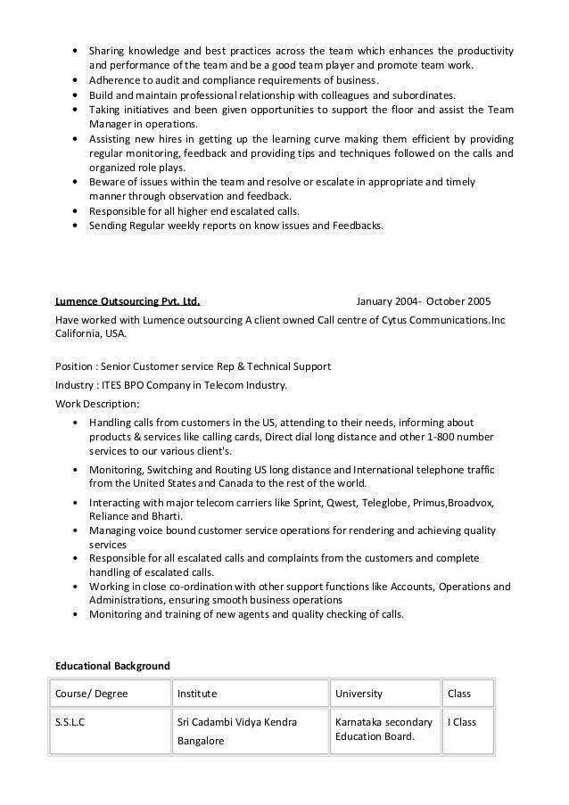 Team Player Resume Professional Resume Templates