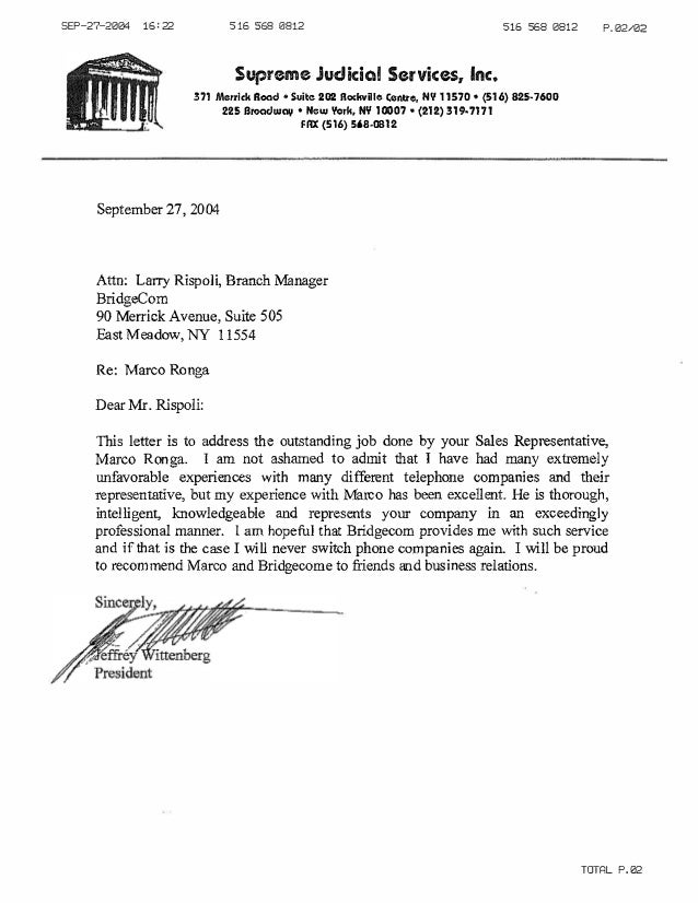Lovely Supreme Judicial Customer Reference Letter. SEP 27 2004 16u003d22 516 568 0812  516 568 0812 Supreme Judicial In Customer Reference Letter