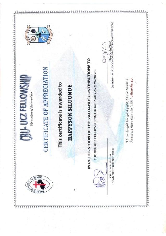 church certificates