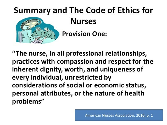 9 Provisions for Being an Ethical Nurse