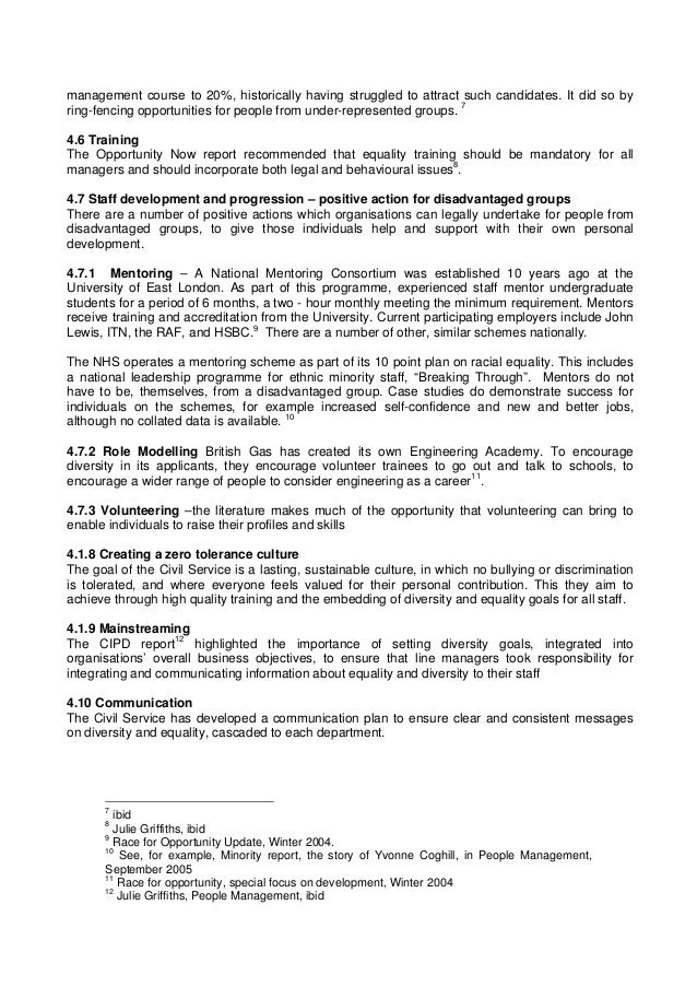 equality and diversity case studies Diversity and equality guidelines for childcare providers december 2006 office of the minister for children hawkins house, hawkins street, dublin 2, ireland.