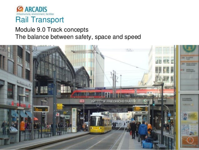 Rail Transport Module 9.0 Track concepts The balance between safety, space and speed