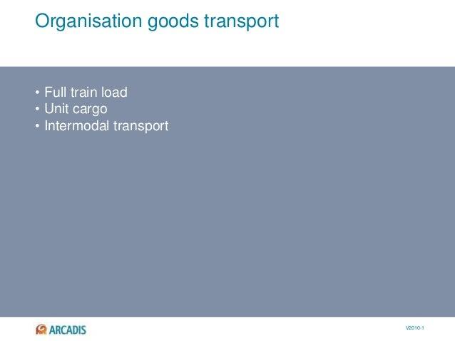 V2010-1 Organisation goods transport • Full train load • Unit cargo • Intermodal transport