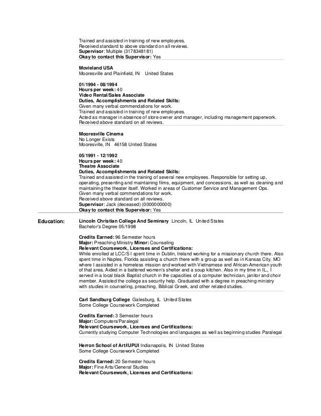 More Resume Help