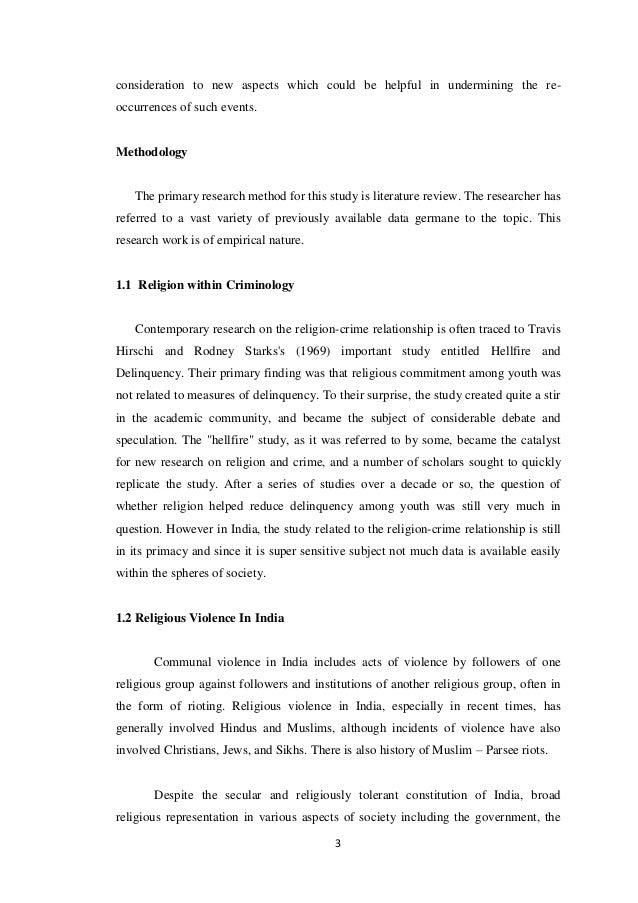 criminological research proposal sample