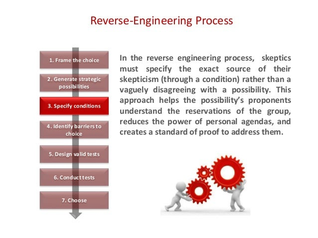 Reverse-Engineering Process In the reverse engineering process, skeptics must specify the exact source of their skepticism...