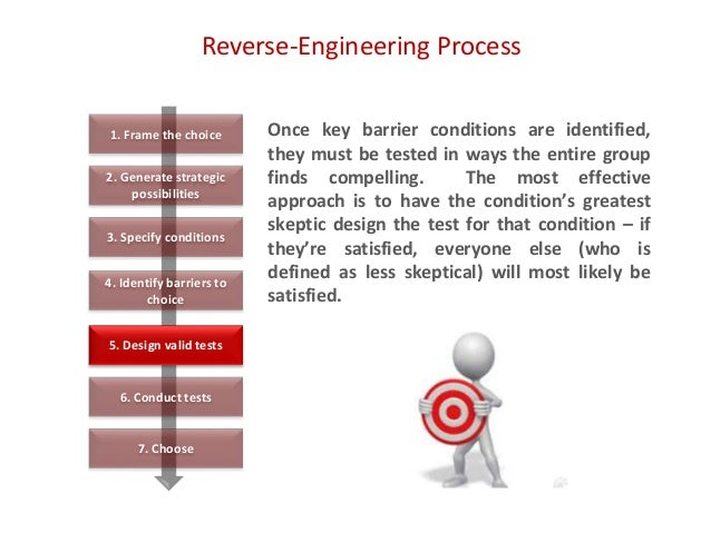 Reverse-Engineering Process Once key barrier conditions are identified, they must be tested in ways the entire group finds...