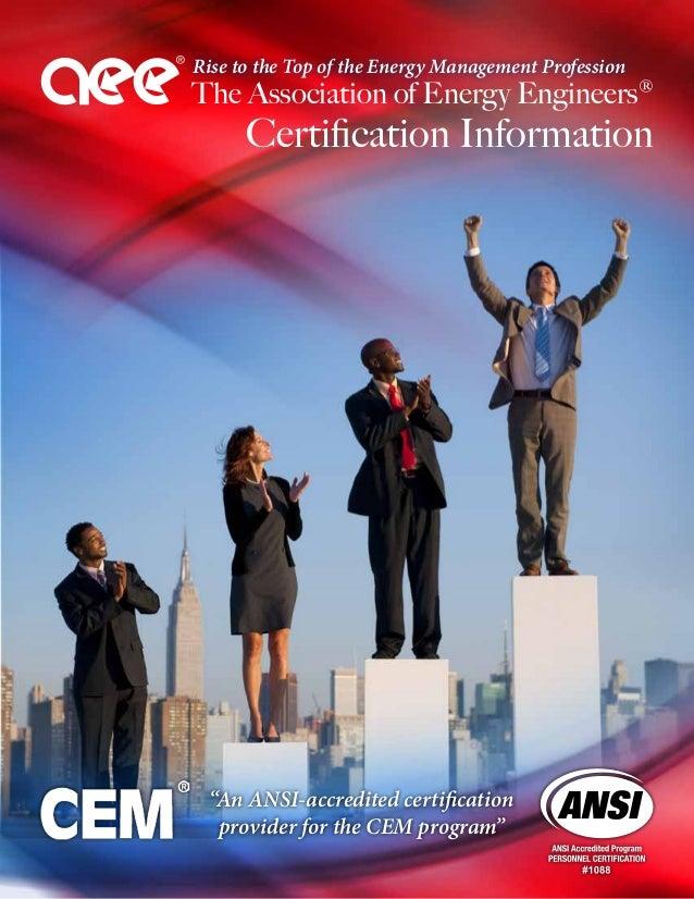 Aee Cem Certification Brochure