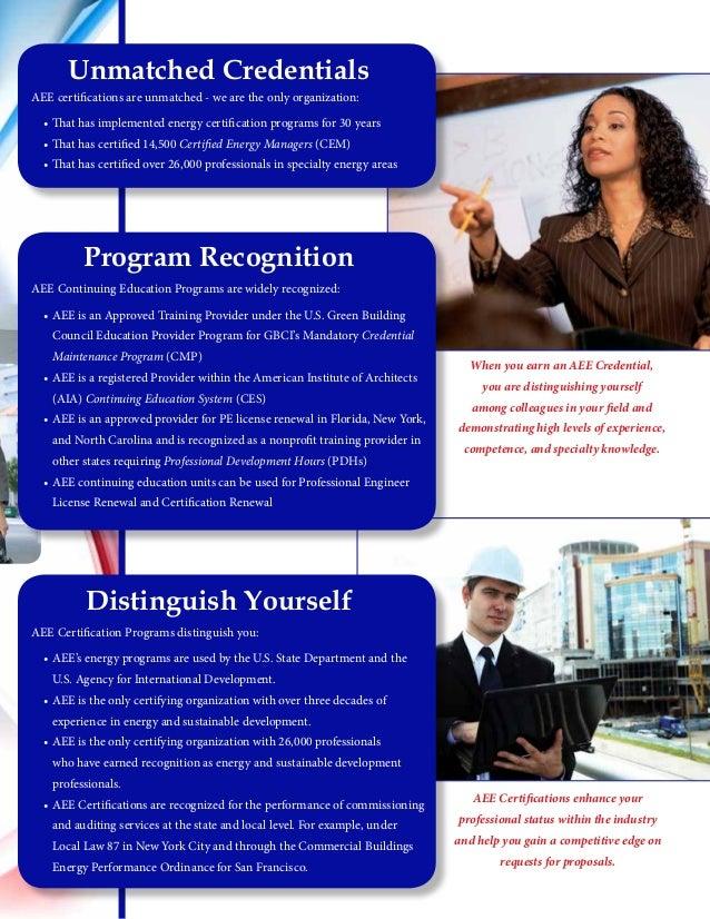cem certification aee brochure