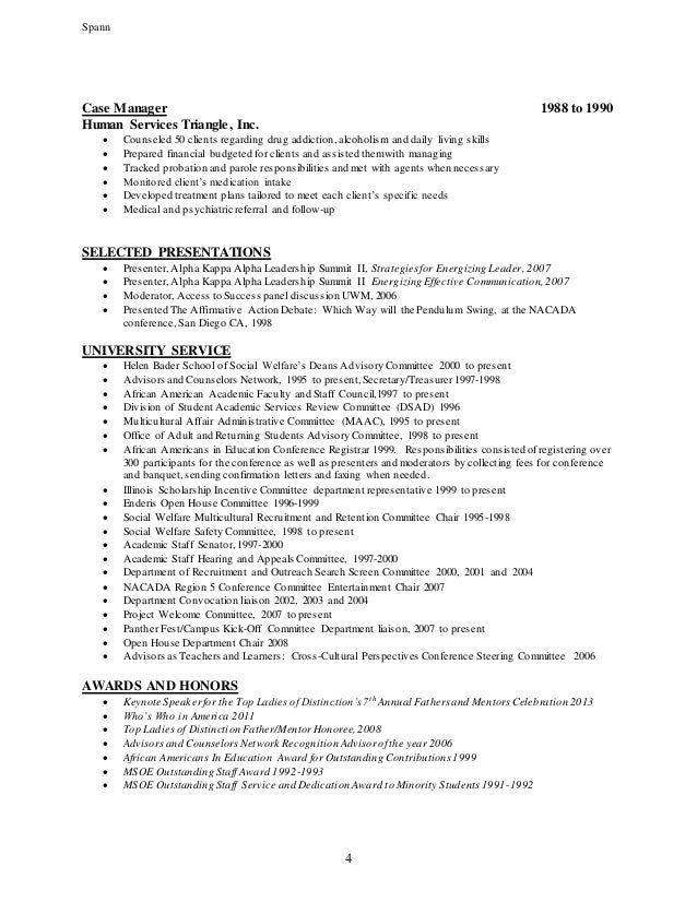 sample human services resume