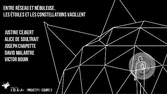 Entre réseau et nébuleuse, les étoiles et les constellations vacillent - Projet p1 - equipe 2 Justine cejaert alice de sou...