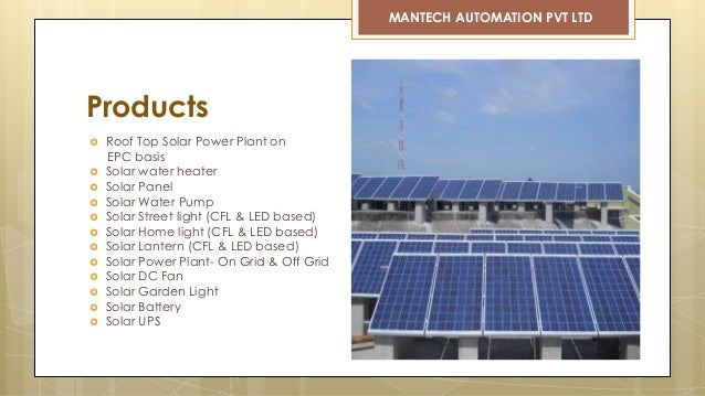 Mantech Solar Company Profile