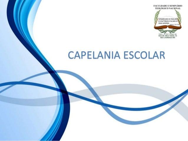 CAPELANIA ESCOLAR