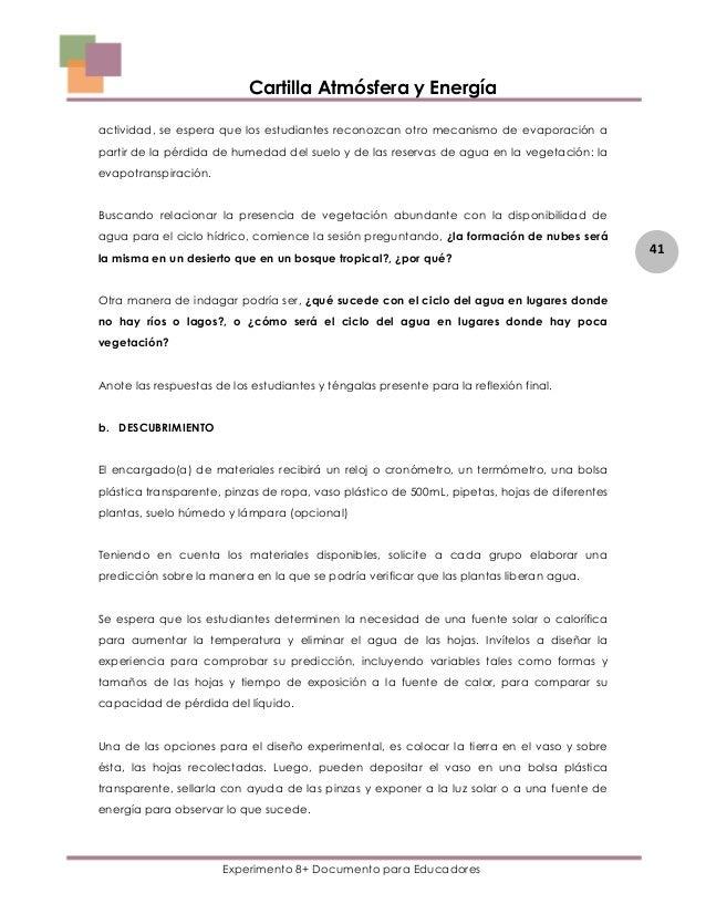 ATMOSFERA Y ENERGIA EXPERIMENTO 8+