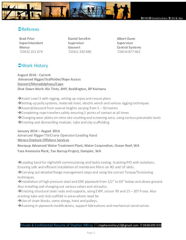 stephen milroy resume