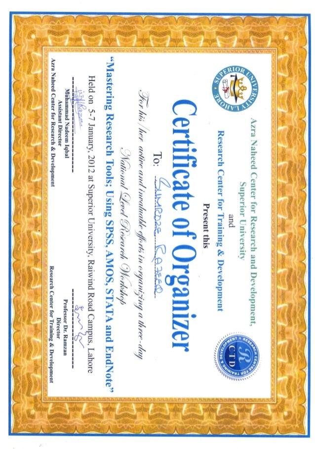 certificate of organizer