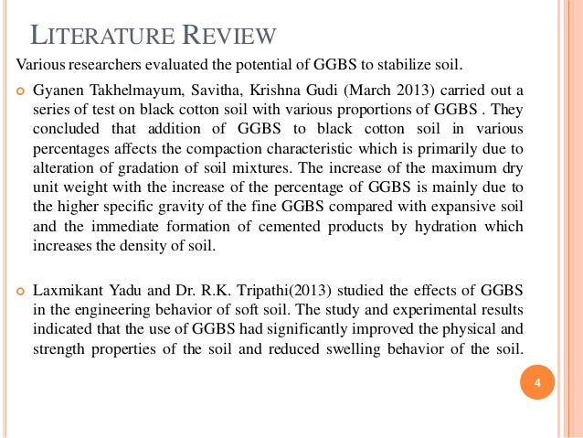 literature review on ggbs