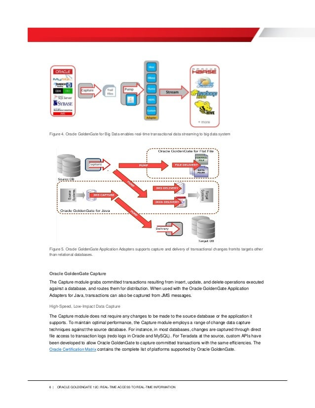 Oracle Goldengate 12c Real Time Access To Real Time