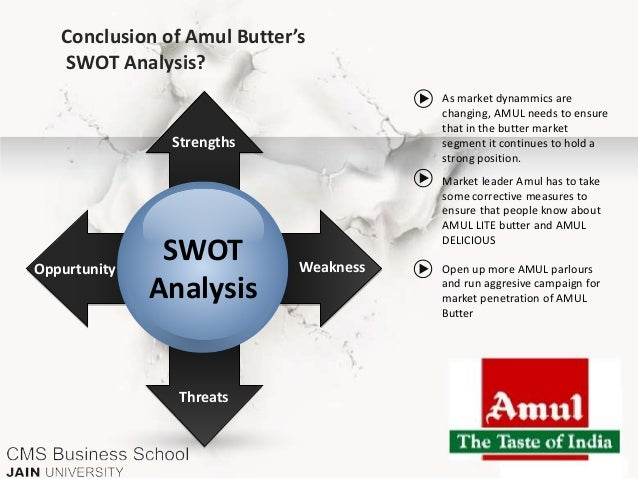 swot analysis of amul Marketing research of amul project report, amul india story, swot analysis, marketing strategy, amul india limited, amul products marketed, amul parlours, products detailer.