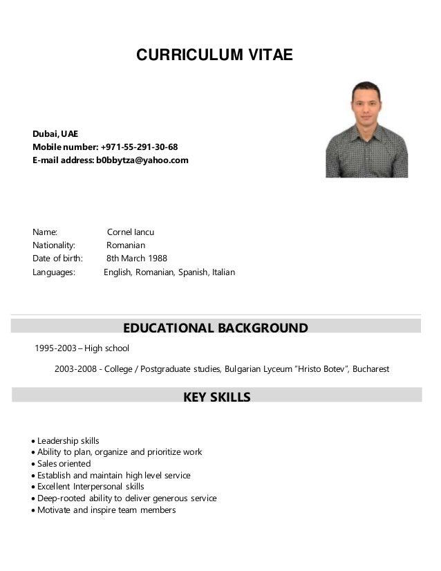 CV of Cornel Iancu