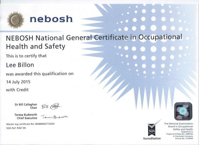 Nebosh NGC Certificate