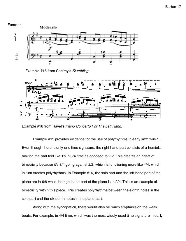 Illustration essay about music