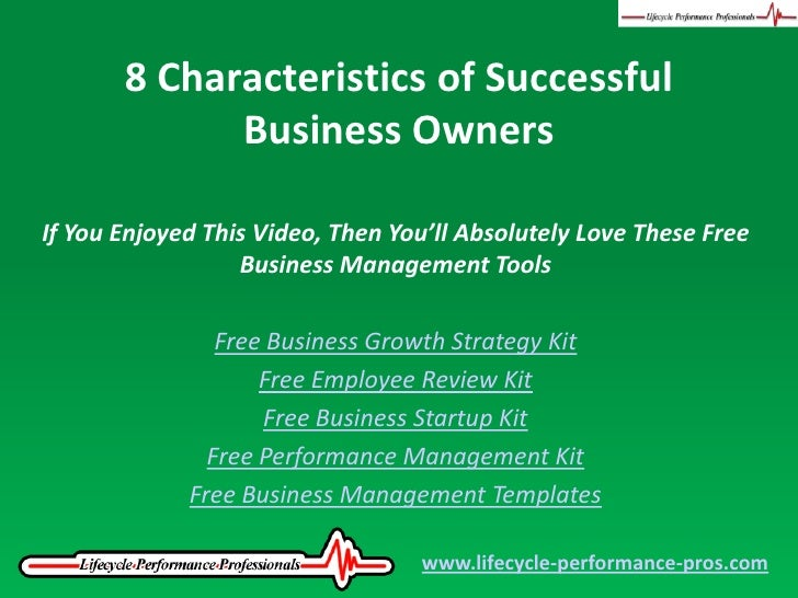video 8 characteristics of successful business owners