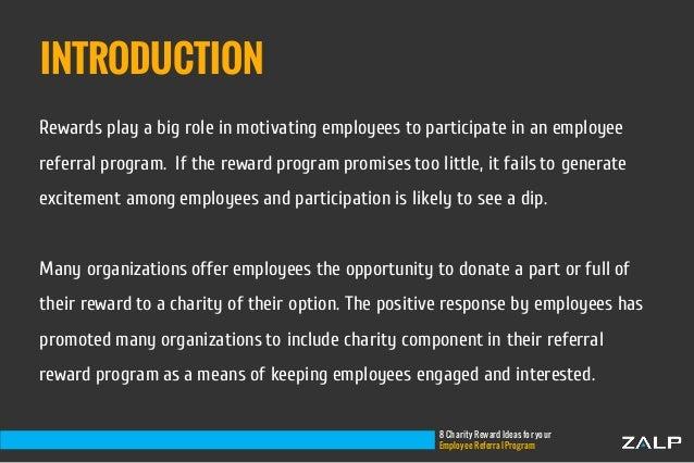 8 charity reward ideas for employee referrals