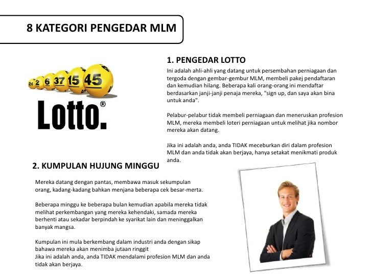 8 KATEGORI PENGEDAR MLM                                                  1. PENGEDAR LOTTO                                ...