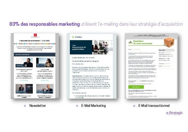 ☆ Newsletter 83% des responsables marketing utilisent l'e-mailing dans leur stratégie d'acquisition ☆ E-Mail Marketing ☆ E...