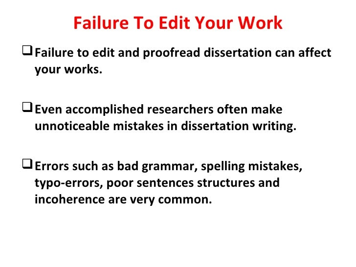 Dissertation failures