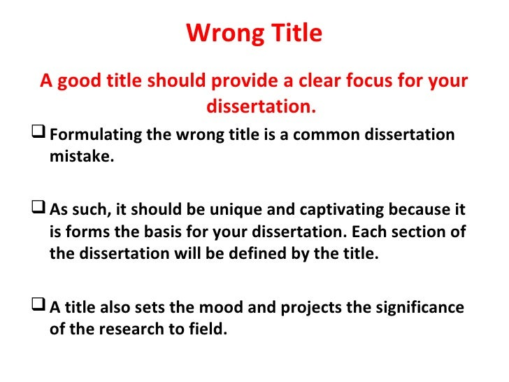 8 Common Dissertation Mistakes Title Of Meaning My In Urdu