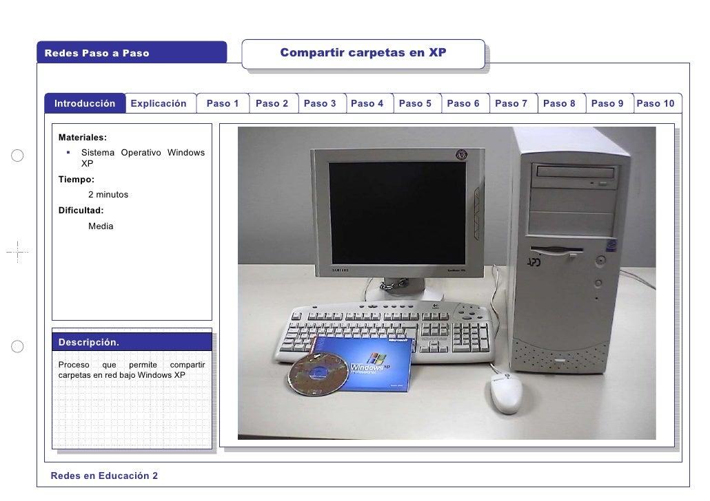Redes Paso a Paso                                      Compartir carpetas en XP     Introducción        Explicación       ...
