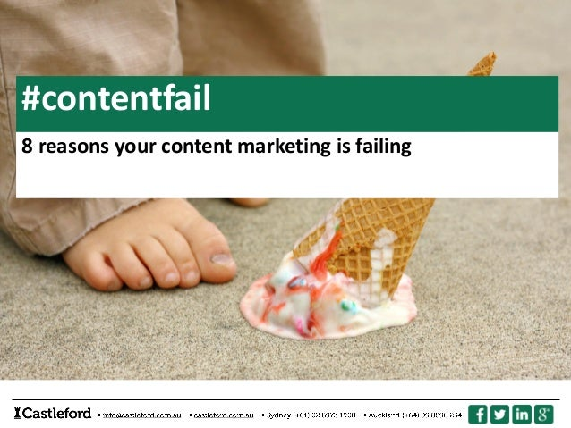 #contentfail 8 reasons your content marketing is failing