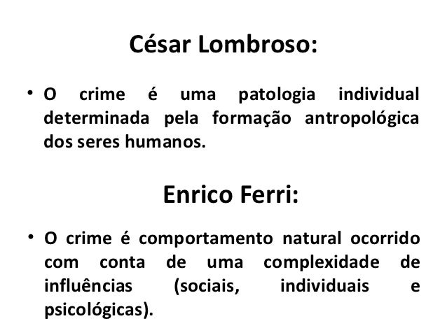 """lombroso and beccaria on crime This sample criminology essay is published for  cesare lombroso with his theory of """"born criminal"""" is  beccaria, c (1963) [1764] on crimes and ."""