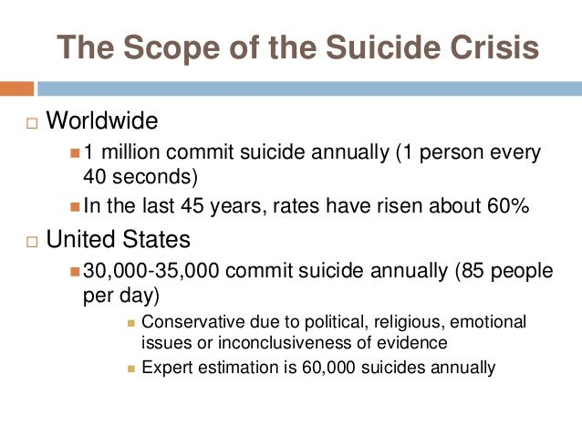 The suicide crisis in the united states